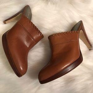 Nine West leather heeled Mules sz 7